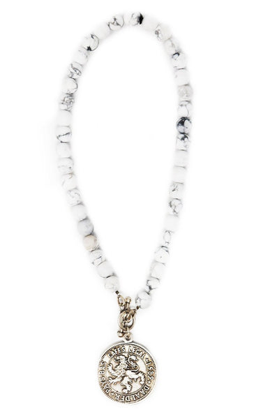 French Kande White Marble Necklace - Gabrielle's Biloxi