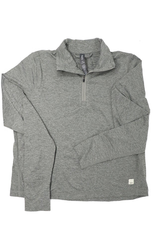 Vuori Women's Crescent 1/2 Zip Heather Grey - Gabrielle's Biloxi