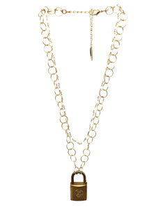 LV Locket Necklace by Love, O