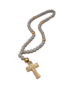 Rosary Blessing Beads - Grey - Gabrielle's Biloxi