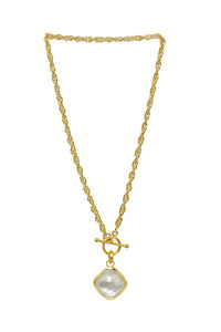 Betty Carre' Toggle Chain with Square Stone Necklace - Gabrielle's Biloxi
