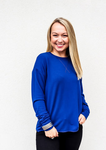 Bobi Drop Sleeve Crew Neck Top