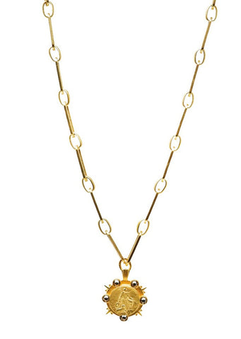 French Kande Versailles Marmonde Necklace Gold - Gabrielle's Biloxi