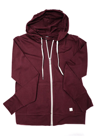 Vuori Women's Halo Performance Hoodie Cerise Heather - Gabrielle's Biloxi