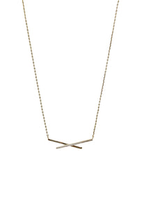 Crisscross Gold Necklace - Gabrielle's Biloxi