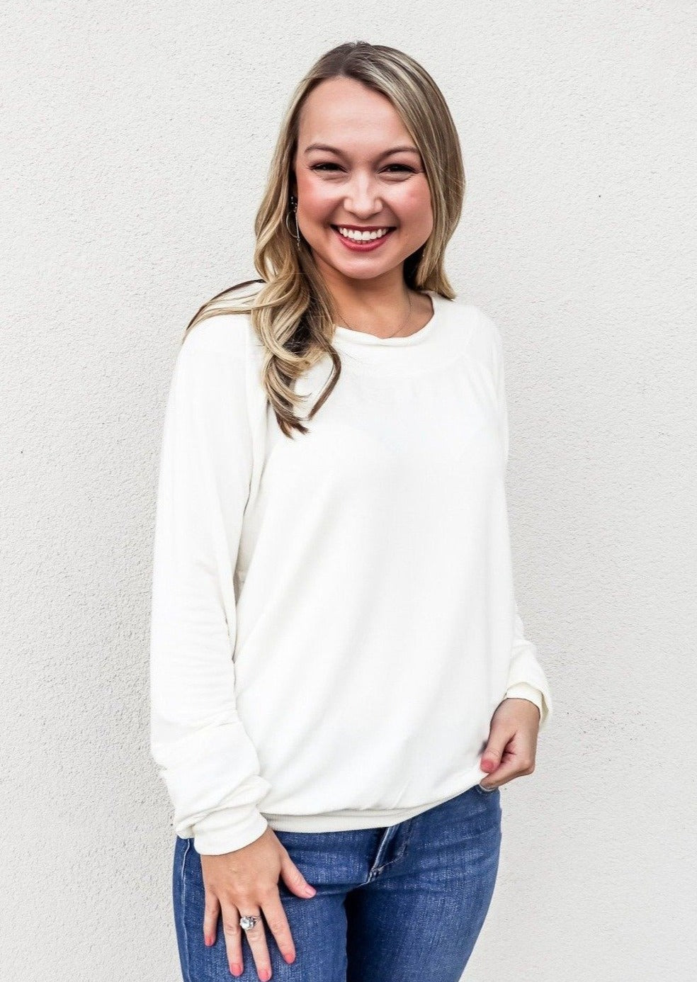 Bobi Off Shoulder Top Cream