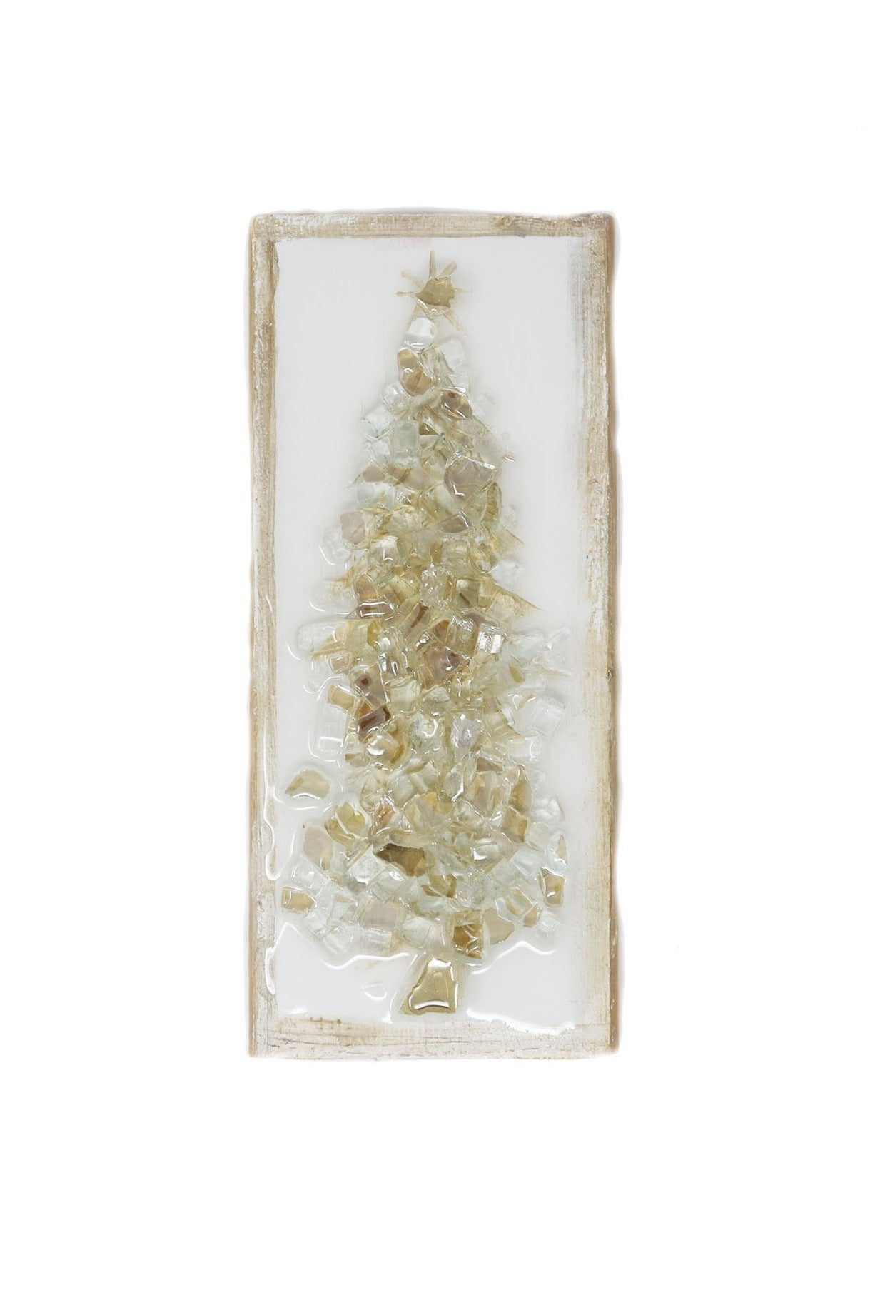 Glass Tree Wood Block Champagne - Gabrielle's Biloxi