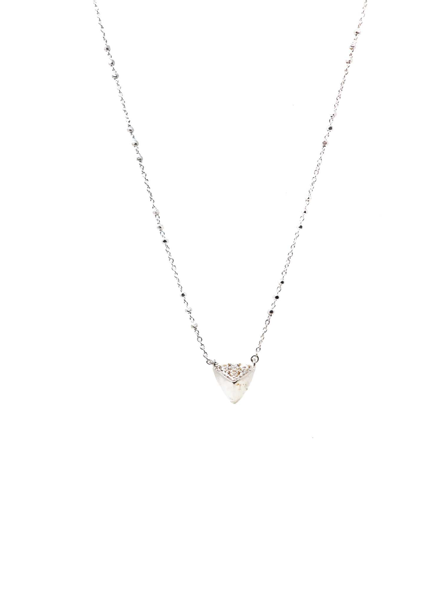 Kendra Scott Perry Short Pendant Necklace Rhodium - Gabrielle's Biloxi