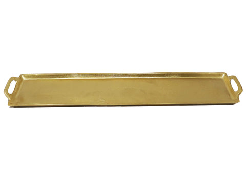 Rectangular Aluminum Medium Tray Dark Gold - Gabrielle's Biloxi