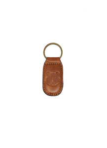 Tiger Leather Embossed Keychain Brown Antique - Gabrielle's Biloxi