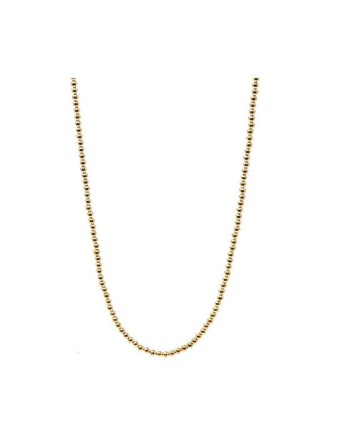 "ENewton 41"" Necklace Classic Gold 3mm Bead - Gabrielle's Biloxi"