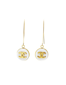 "Chanel ""CC"" Button Earrings - Gabrielle's Biloxi"