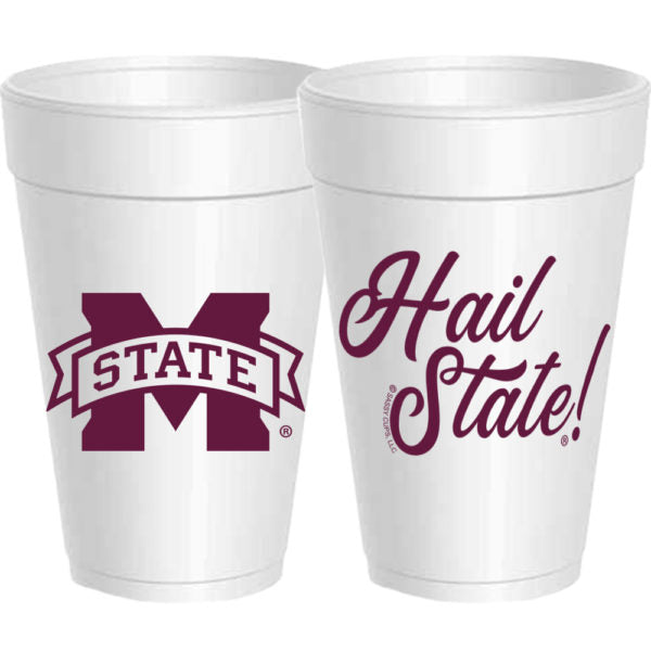 Mississippi State - Hail State Styrofoam Cups - Gabrielle's Biloxi