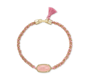 Kendra Scott Elaina Braided Bracelet Gold Rose Quartz - Gabrielle's Biloxi