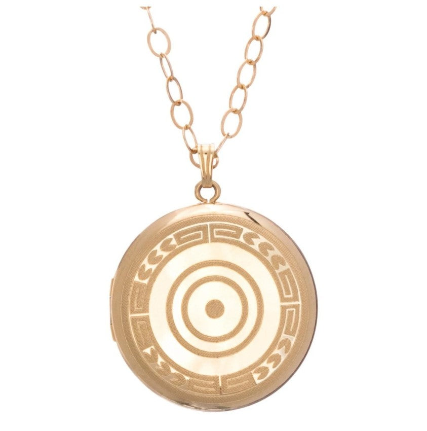 Cherish Large Gold Locket Necklace - Gabrielle's Biloxi