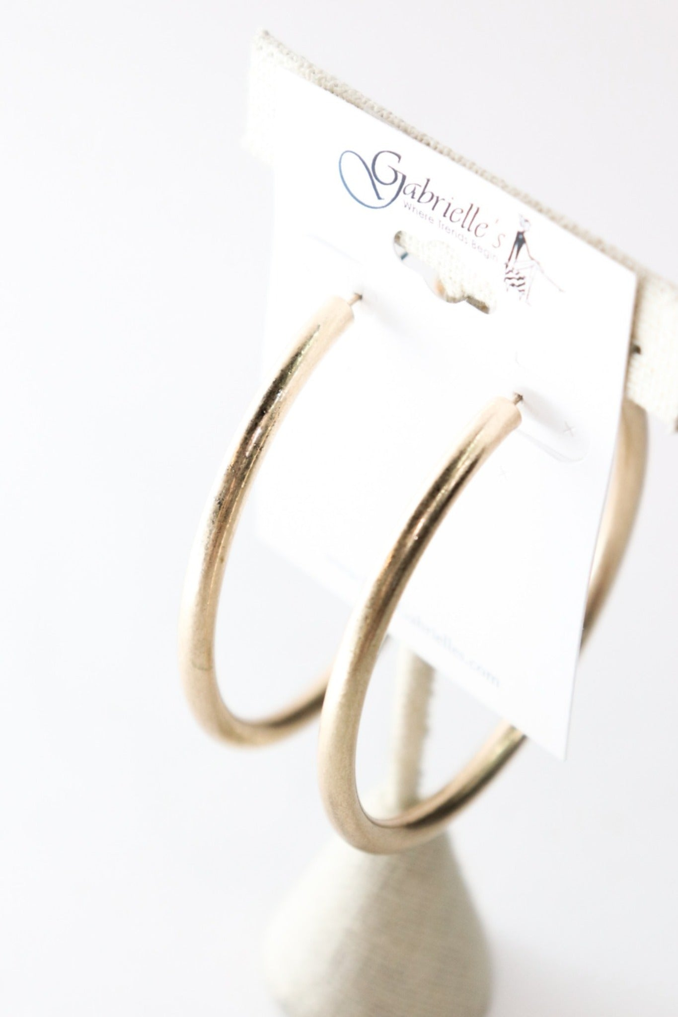 Large Gold Hoops - Gabrielle's Biloxi