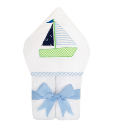 3 Marthas Everykids Towel Sailboat Blue - Gabrielle's Biloxi
