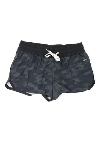 Vuori Women's Clementine Shorts - Black Watercolor Camo - Gabrielle's Biloxi