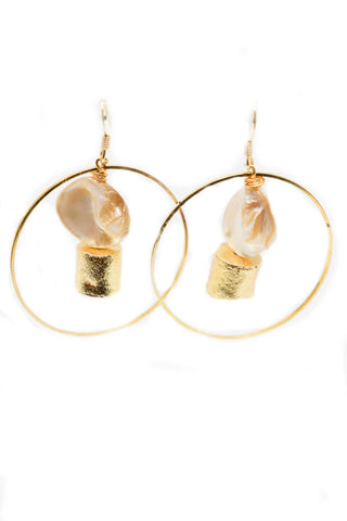 Love, AO Pearl Circle Earrings - Gabrielle's Biloxi