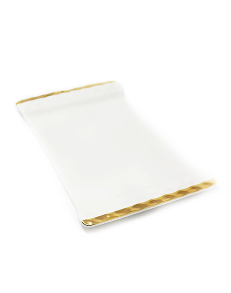 Michael Wainwright Truro Cheese Tray Gold - Gabrielle's Biloxi