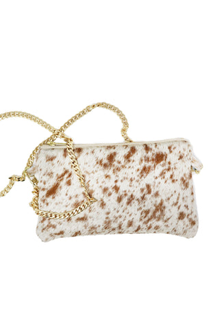 Parker & Hyde Speckled Calf Hair Crossbody - Gabrielle's Biloxi