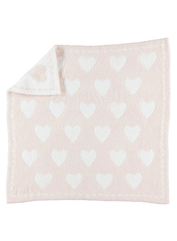 Barefoot Dreams CozyChic Dream Blanket Pink/White Hearts - Gabrielle's Biloxi