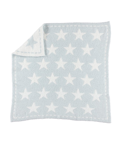 Barefoot Dreams CozyChic Dream Blanket Aqua Ice/White Stars - Gabrielle's Biloxi