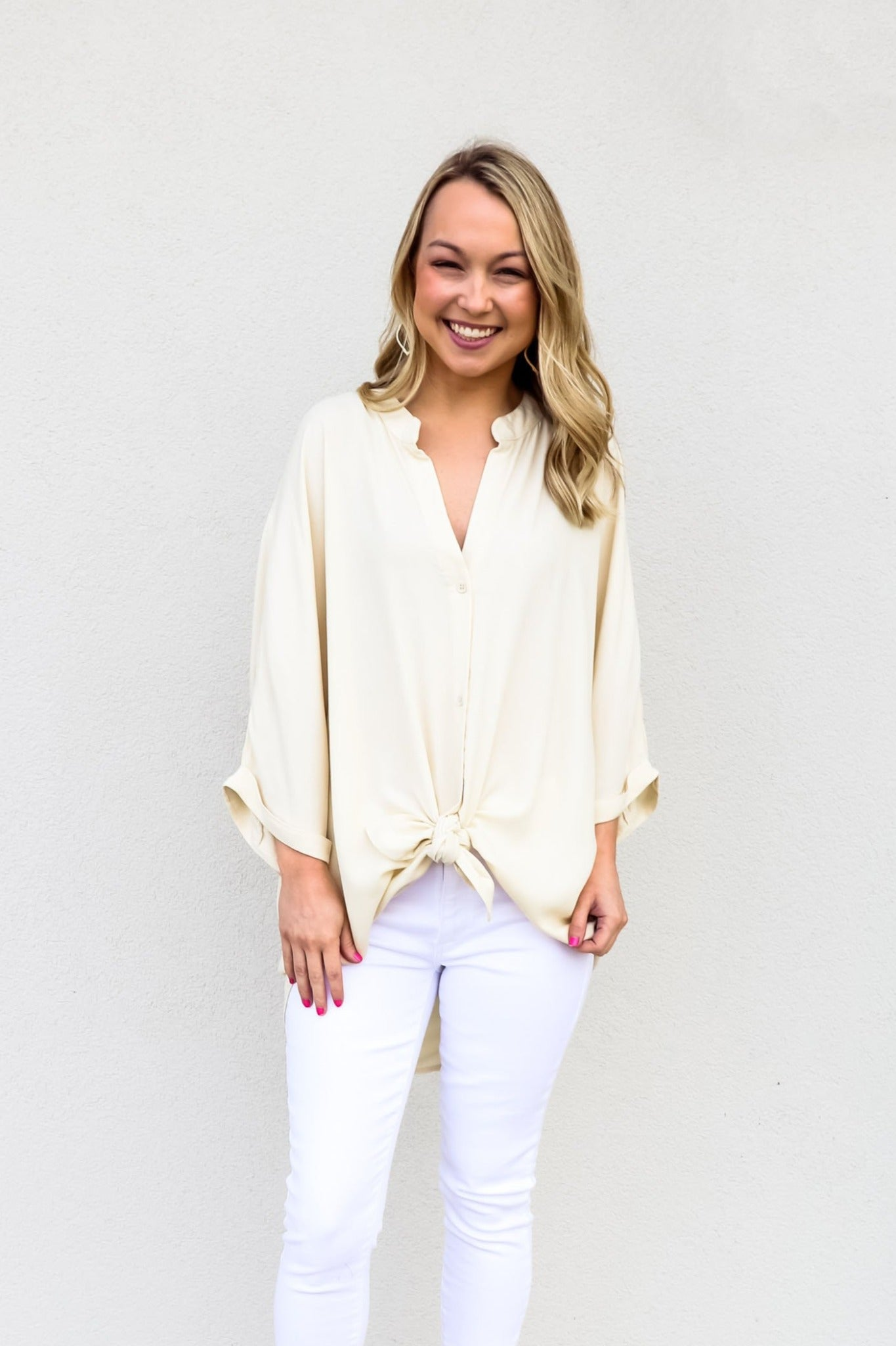 Bobi Dolman Button Down Shirt - Gabrielle's Biloxi