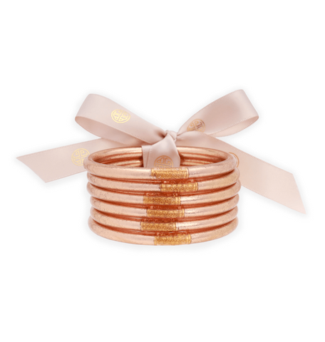 BuDhaGirl Champagne All Weather Bangles - Gabrielle's Biloxi