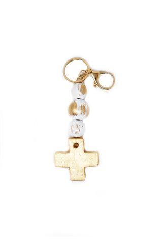 Cross Blessing Bead Keychain - Gabrielle's Biloxi