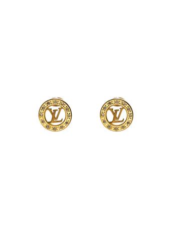 LV Button Earrings - Gabrielle's Biloxi