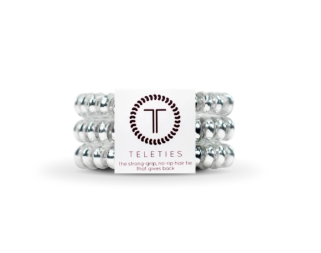 Teleties - Small in Electric Silver - Gabrielle's Biloxi