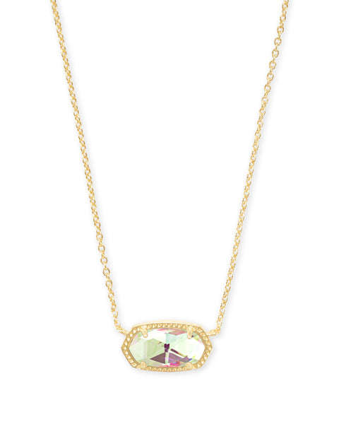 Kendra Scott Elisa Necklace Gold Dichroic Glass - Gabrielle's Biloxi