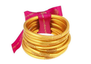 BuDhaGirl Gold All Weather Bangles - Gabrielle's Biloxi