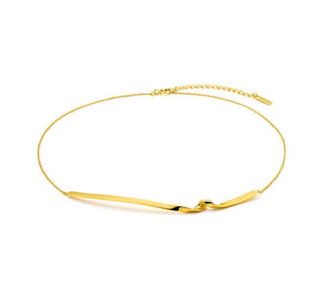 Gold Twist Collar Necklace - Gabrielle's Biloxi