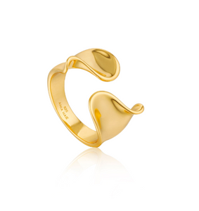 Gold Twist Wide Adjustable Ring - Gabrielle's Biloxi