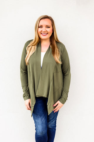 Bobi Ultra Terry Draped Cardigan - Gabrielle's Biloxi