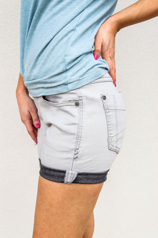Women's Charcoal Stretch Denim Shorts - Gabrielle's Biloxi