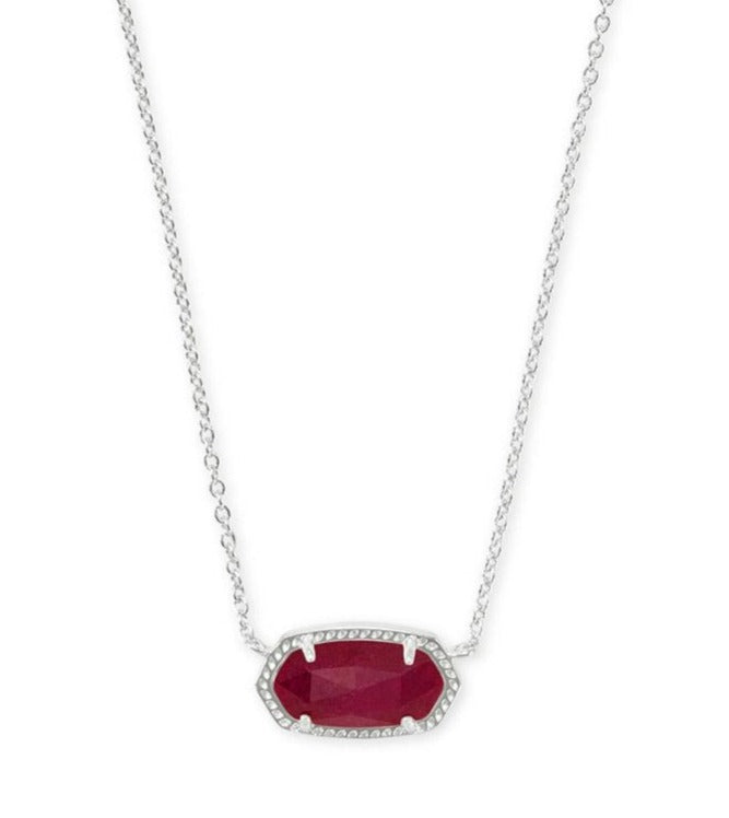 Kendra Scott Elisa Necklace in Maroon Jade - Gabrielle's Biloxi