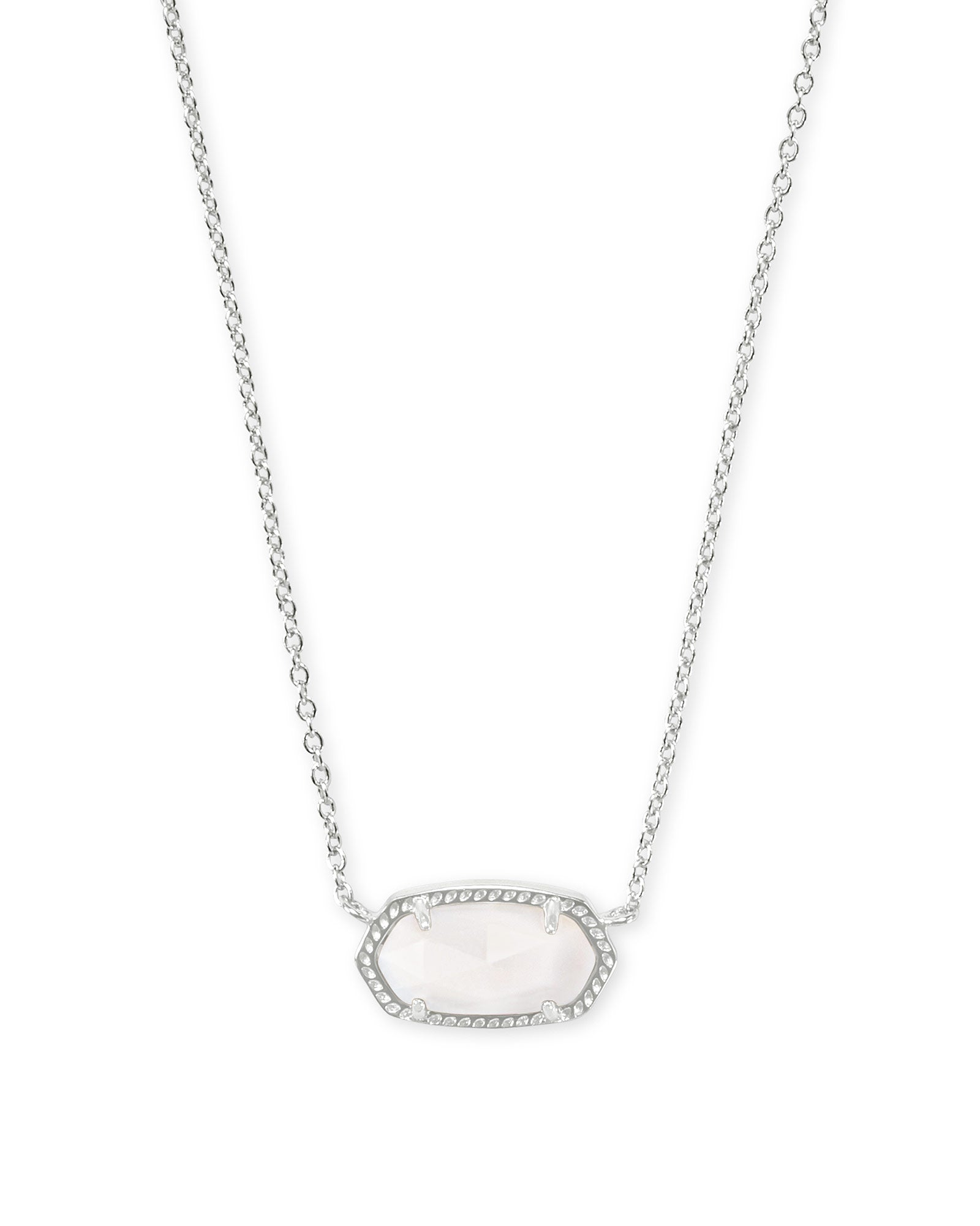 Kendra Scott Elisa Necklace Rhodium White MOP - Gabrielle's Biloxi