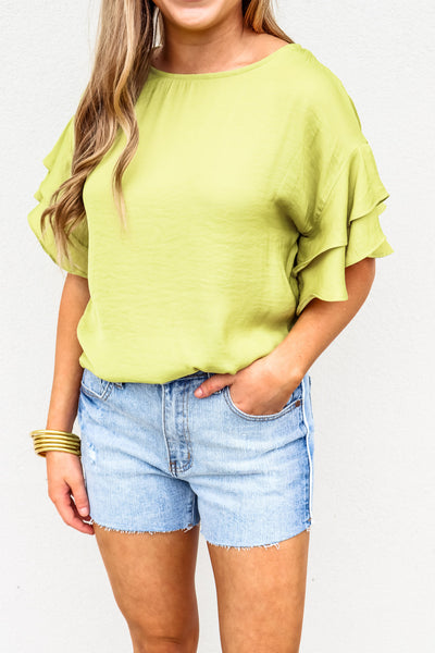 Double Ruffle Sleeve Top - Gabrielle's Biloxi