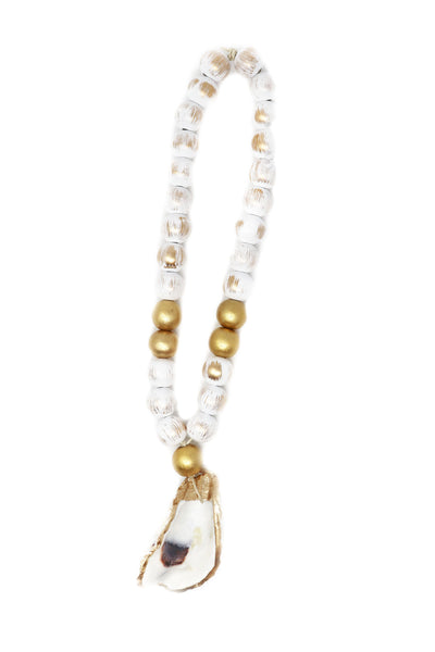 Medium Oyster Shell Blessing Beads - Gabrielle's Biloxi