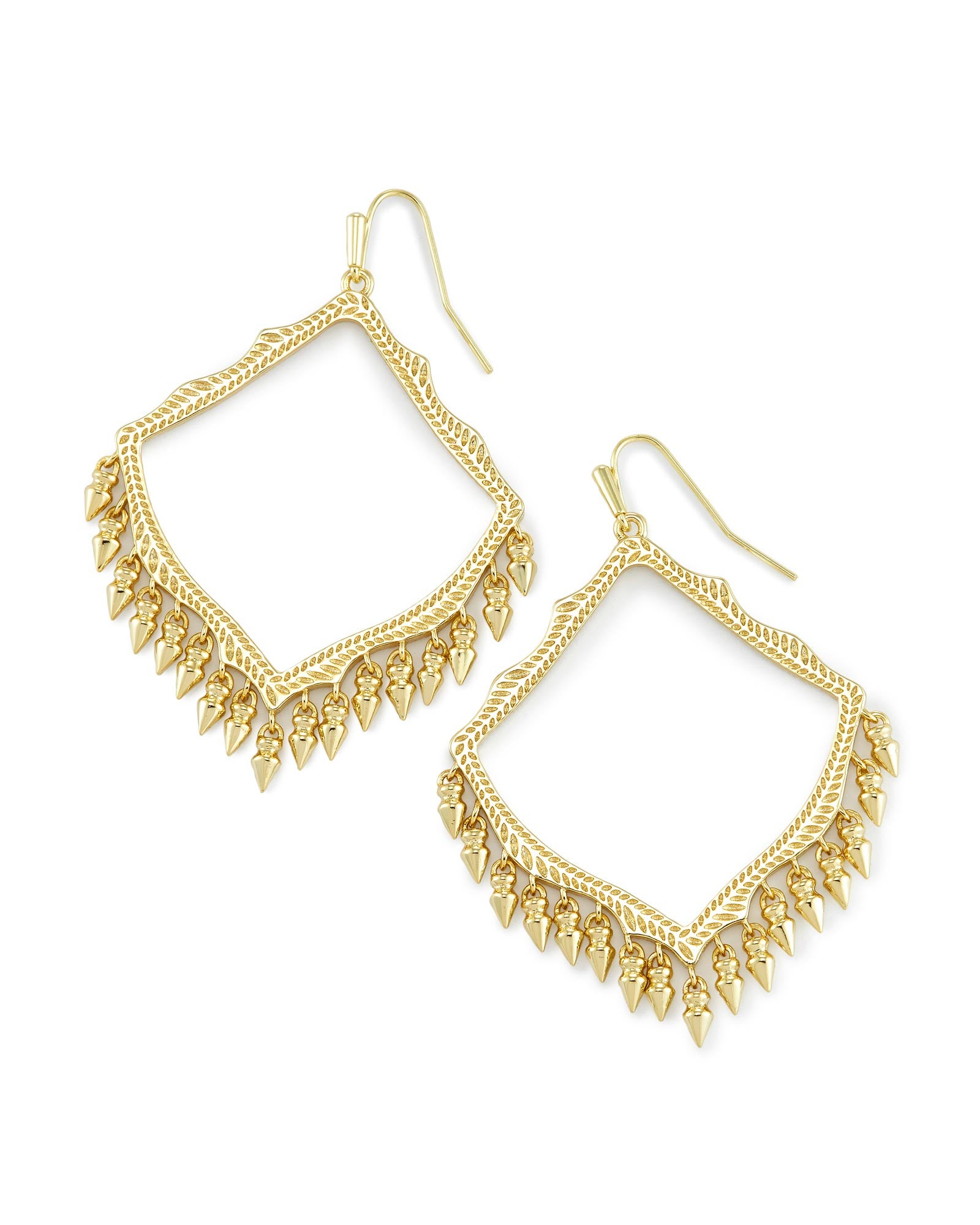 Kendra Scott Lacy Earrings Gold - Gabrielle's Biloxi