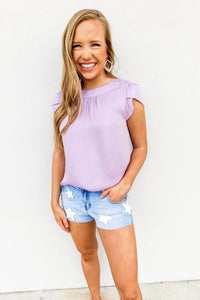 Lavender Puff Sleeve Top