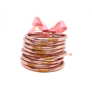 BuDhaGirl Rose Gold All Weather Bangles - Gabrielle's Biloxi