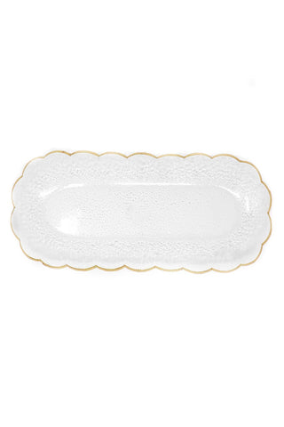 "Goldedge Handcrafted Crystal 18 x 6.5"" Oval Platter - Gabrielle's Biloxi"