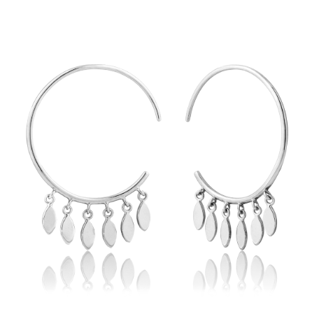 Silver Multi-Drop Hoop Earrings - Gabrielle's Biloxi