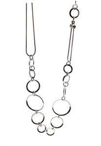 Theia Linked Large Circle Long Necklace - Gabrielle's Biloxi