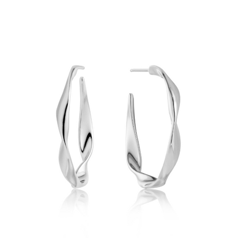 Silver Twist Hoop Earrings - Gabrielle's Biloxi