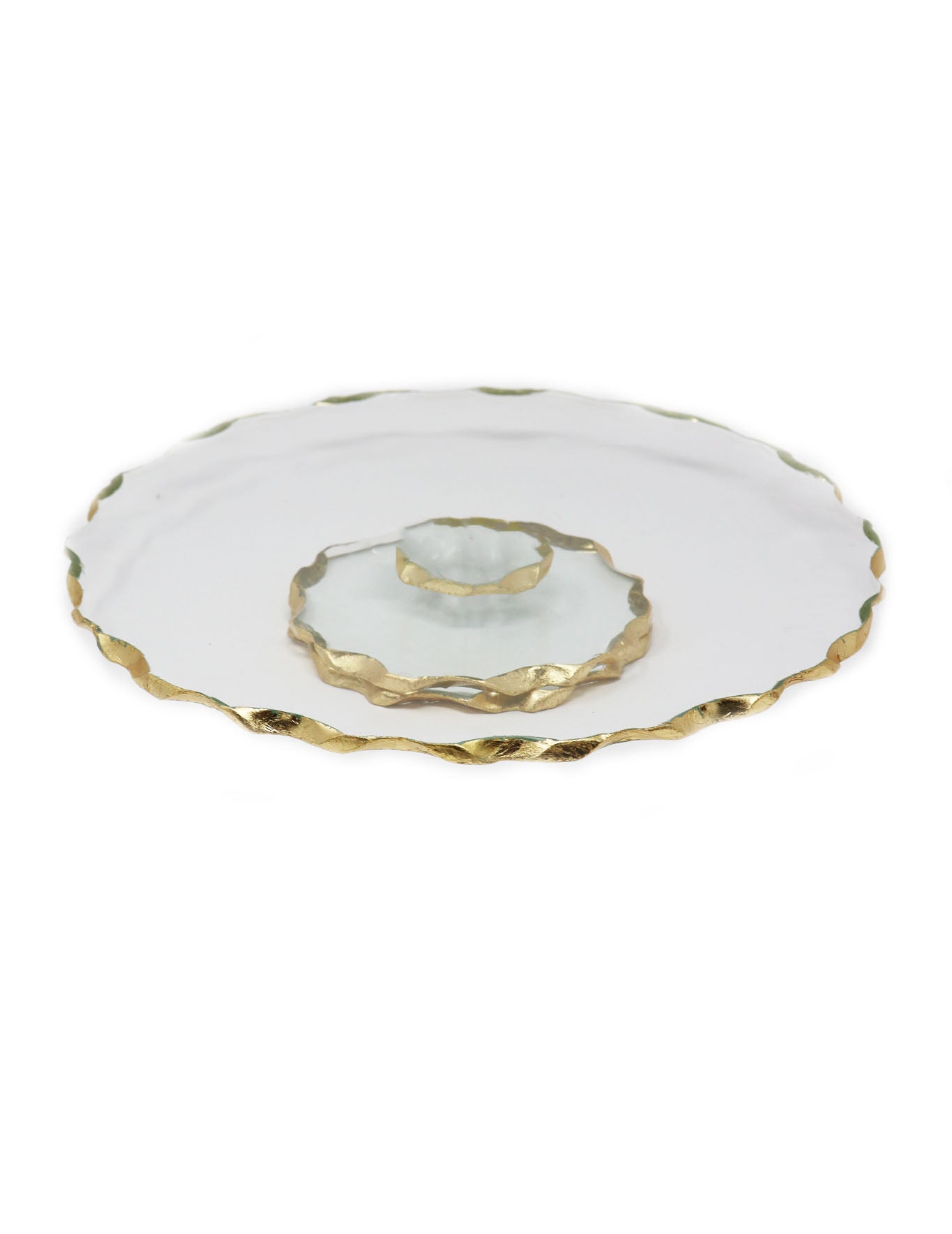 "Goldedge Handcrafted Crystal 13"" Turning Platter - Gabrielle's Biloxi"
